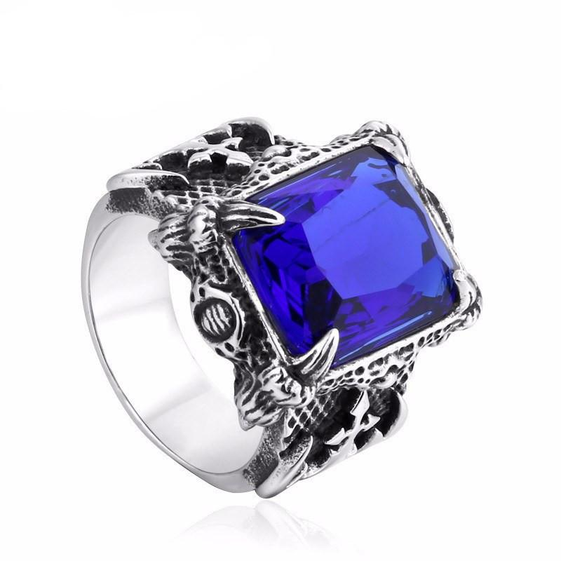 King's Jewel Stainless Steel Ring - The Dragon Shop - Geek Culture