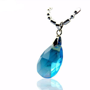 Sword Art Online Blue Crystal Necklace - The Dragon Shop - Geek Culture