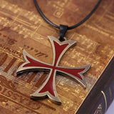 Assassin's Creed Red Cross Necklace - The Dragon Shop - Geek Culture