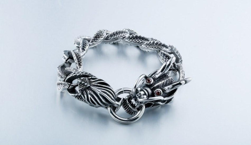MYSTIC DRAGON Stainless Steel Bracelet - The Dragon Shop - Geek Culture