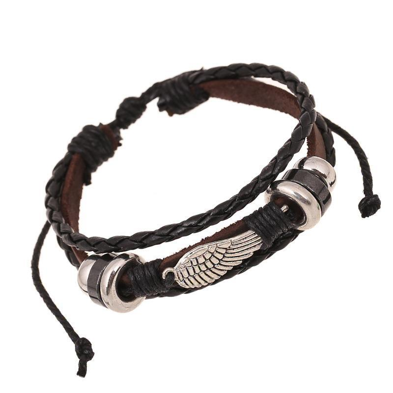 TRAVELLER Leather Bracelet - The Dragon Shop - Geek Culture