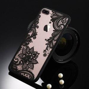 Black Flower iPhone Case - The Dragon Shop - Geek Culture