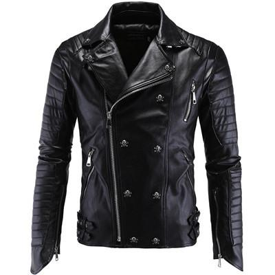 BLACK MAGIC Leather Jacket - The Dragon Shop - Geek Culture