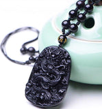 Dragon King Black Obsidian Amulet - The Dragon Shop - Geek Culture