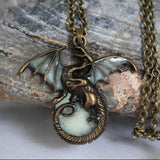 Luminous Dragon Steel Necklace - The Dragon Shop - Geek Culture
