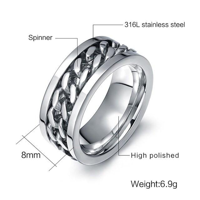 MIGHT Stainless Steel Ring - The Dragon Shop - Geek Culture