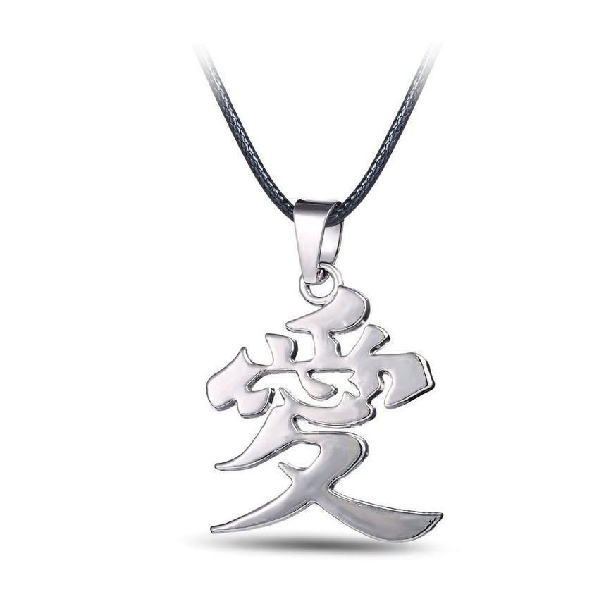 Naruto Gaara LOVE Necklace - The Dragon Shop - Geek Culture
