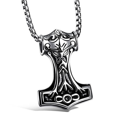 Thor Mjölnir Steel Necklace - The Dragon Shop - Geek Culture