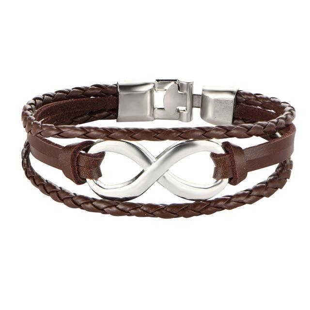Tie of Infinity Leather Bracelet - The Dragon Shop - Geek Culture