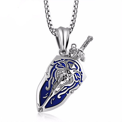 Alliance Shield Stainless Steel Necklace - The Dragon Shop - Geek Culture