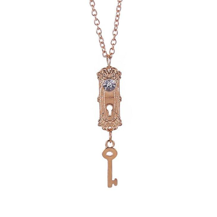 Alice's Key Steel Necklace - The Dragon Shop - Geek Culture