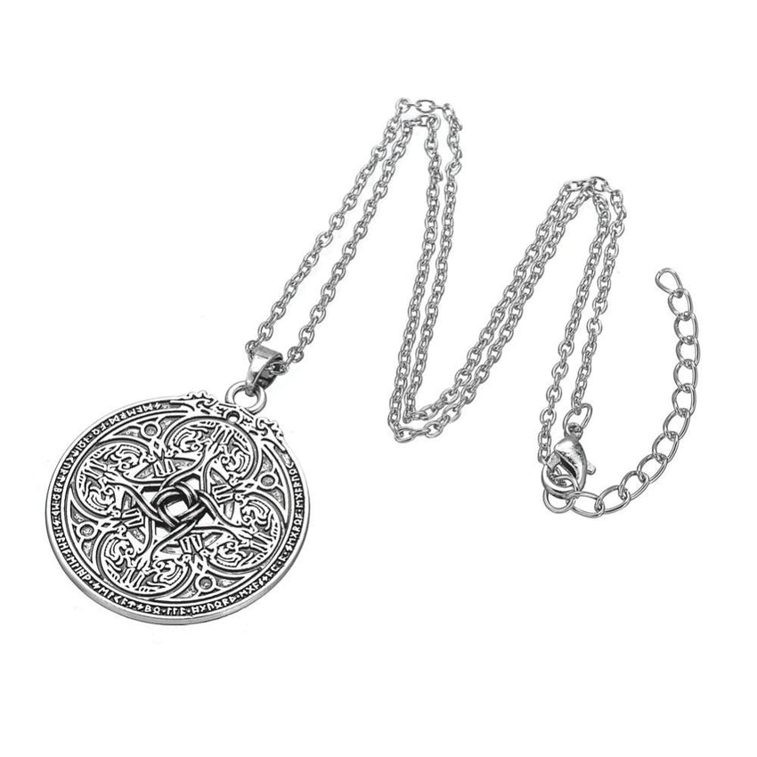 Viking Dragon Shield Necklace - The Dragon Shop - Geek Culture