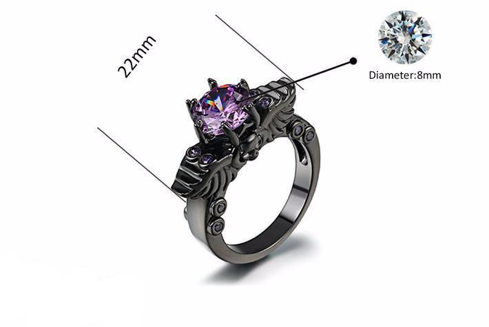 WIDOWMAKER Amethyst Ring - The Dragon Shop - Geek Culture