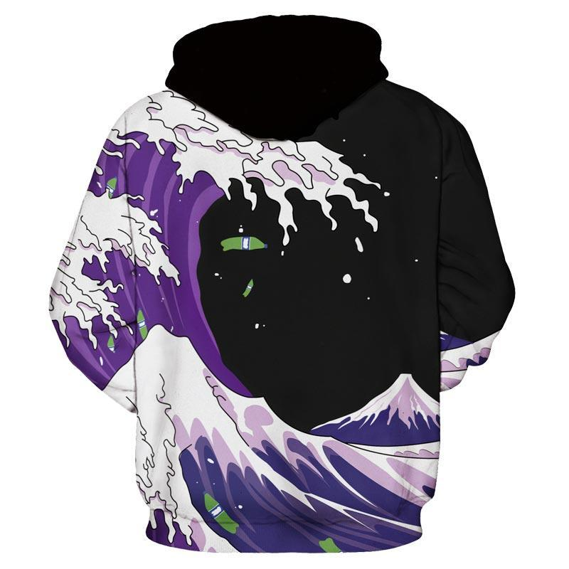 Purple Tide Artistic Hoodie - The Dragon Shop - Geek Culture