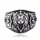 LIONHART Stainless Steel Ring - The Dragon Shop - Geek Culture