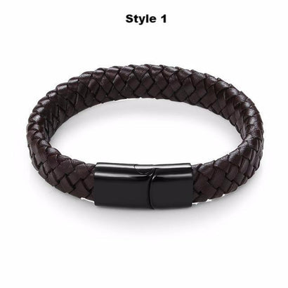 STRONGHOLD Leather Bracelet Series - The Dragon Shop - Geek Culture