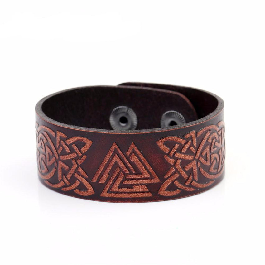 TALISMAN Viking Leather Bracelet - The Dragon Shop - Geek Culture