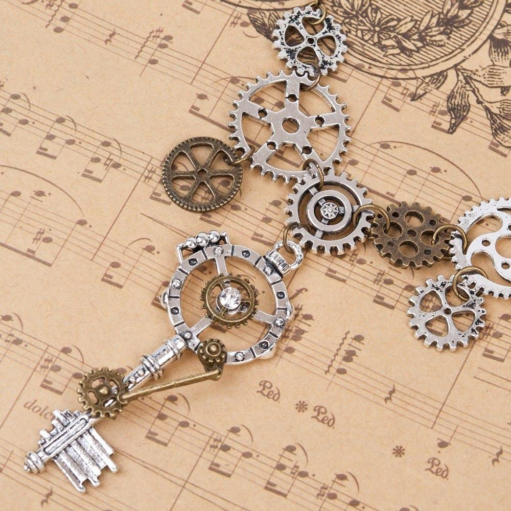 GEAR UP Steampunk Steel Necklace - The Dragon Shop - Geek Culture
