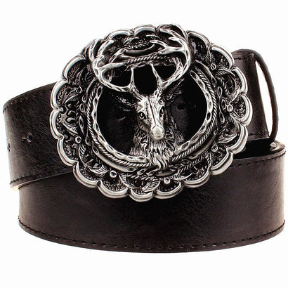 IRONHORN Leather Belt - The Dragon Shop - Geek Culture