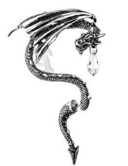 Diamond Dragon Steel Earring - The Dragon Shop - Geek Culture