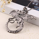 Dragon Tales Steel Necklace - The Dragon Shop - Geek Culture