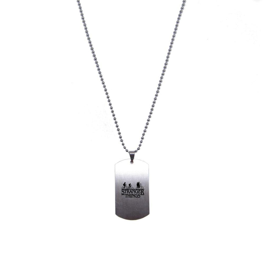 Stranger Things Steel Tag Necklace - The Dragon Shop - Geek Culture