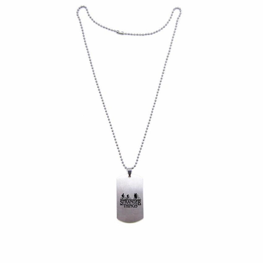 Stranger Things Steel Tag Necklace