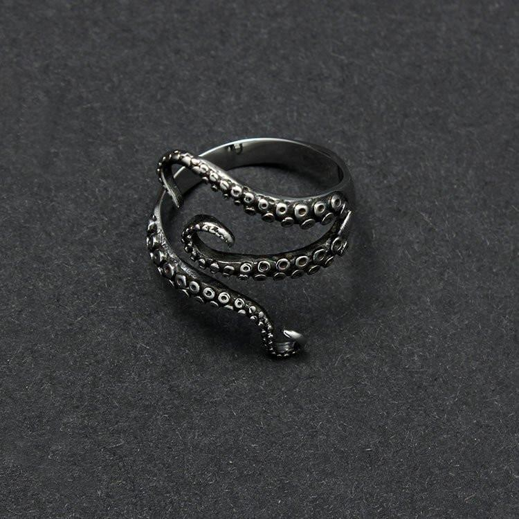 Kraken Octopus Titanium Ring - The Dragon Shop - Geek Culture