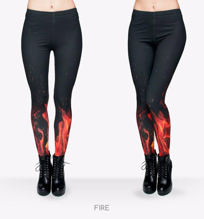 FIREWALKER One-Size Leggings - The Dragon Shop - Geek Culture