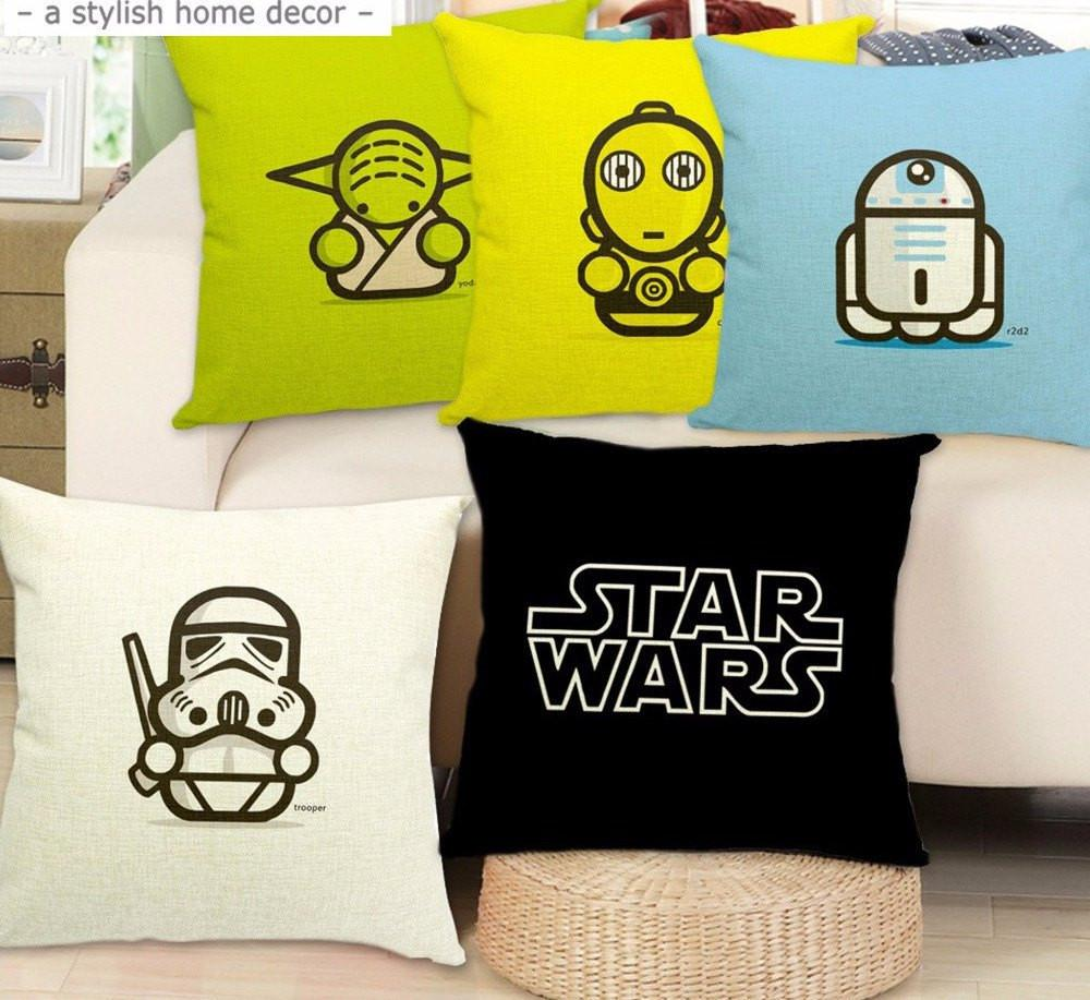 Star Wars Cartoon Pillow Case - The Dragon Shop - Geek Culture