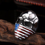 ALL AMERICAN Stainless Steel Ring - The Dragon Shop - Geek Culture