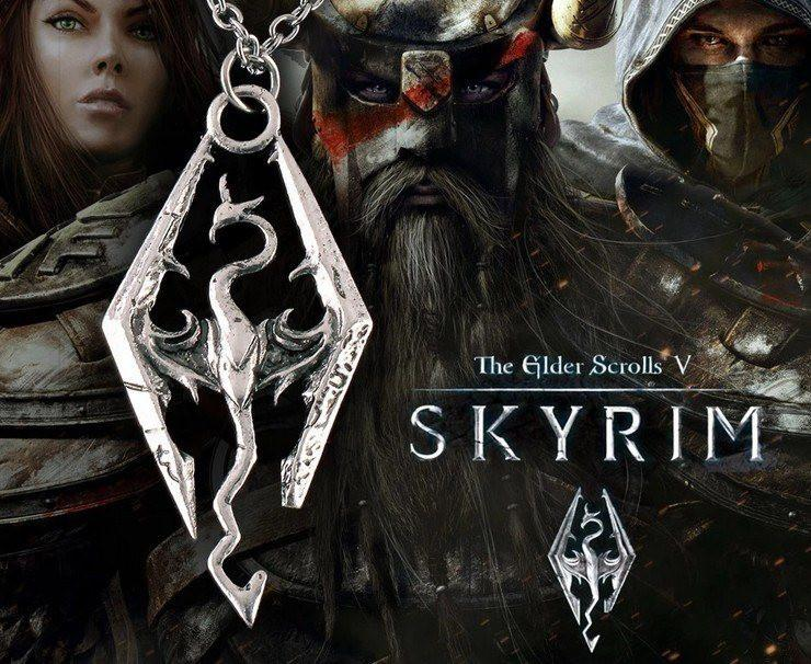 Skyrim Dragonborn Steel Necklace - The Dragon Shop - Geek Culture
