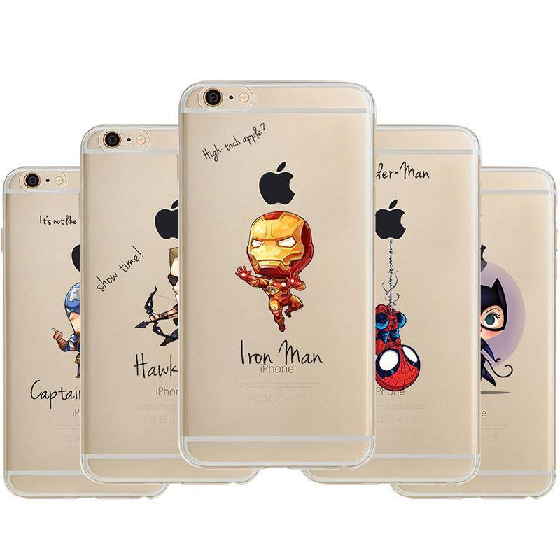 Super Heroes Artistic iPhone Case - The Dragon Shop - Geek Culture