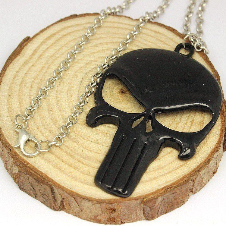 The Punisher Dark Stainless Steel Necklace