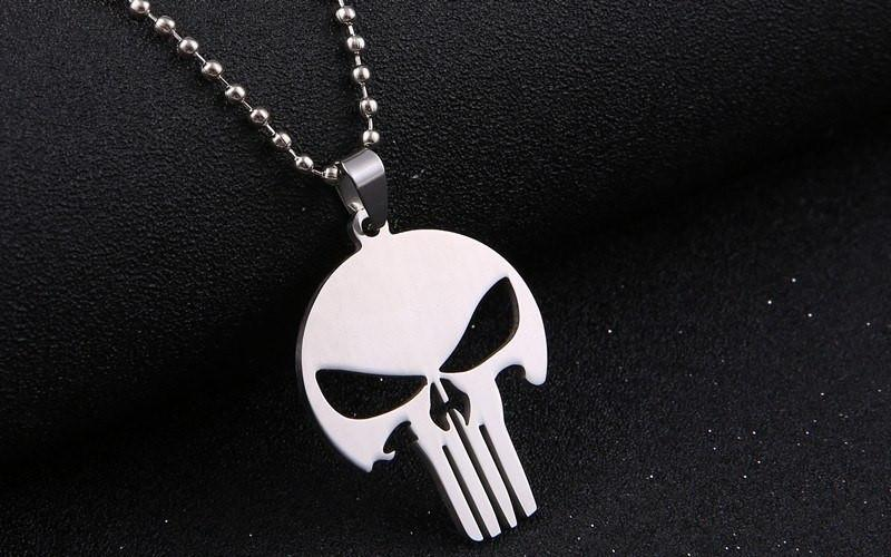 The Punisher Steel Necklace - The Dragon Shop - Geek Culture