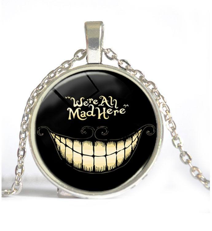 We're All Mad Here Glass Necklace - Muse Raven - Dream Out Loud