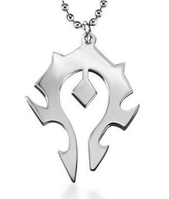WoW Horde Steel Necklace - The Dragon Shop - Geek Culture