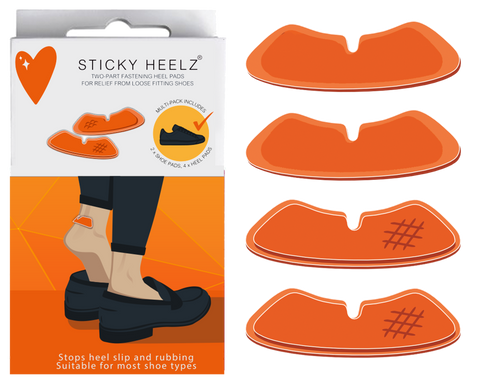 Anti-Slip Heel Pads Orange