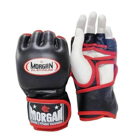 Morgan Platinum Leather MMA Gloves