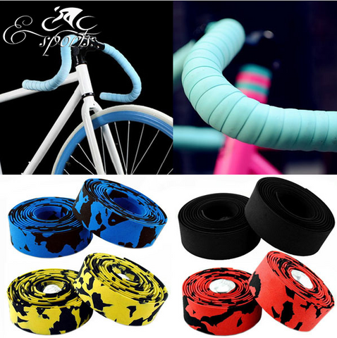 Hot Sale! High Quality Colorful Cycling Handle Belt Tape Wrap +2 Bar