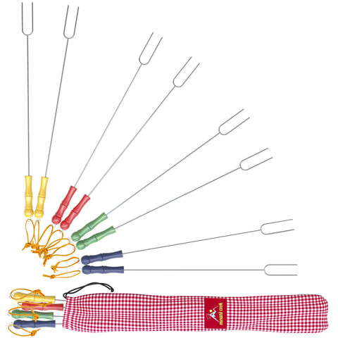 Marshmallow Roasting Sticks - Set of 8 Stainless Steel Forks