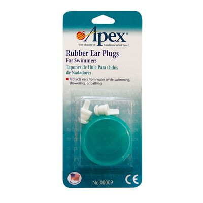 Apex Rubber Ear Plugs For Swimmers
