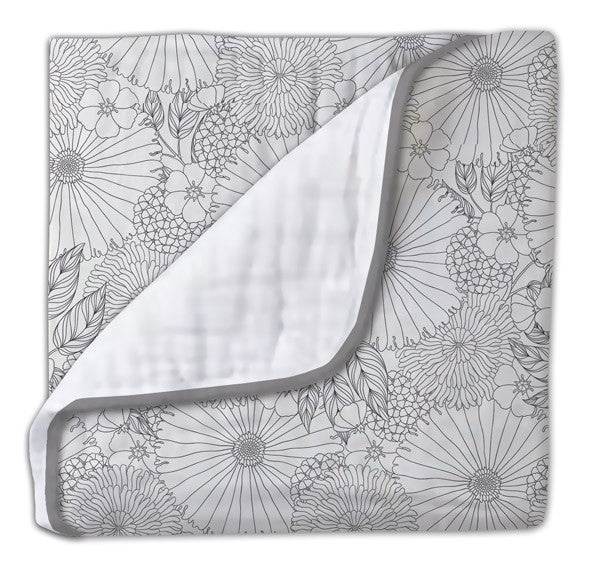 Flower grey bout cama 90 cm