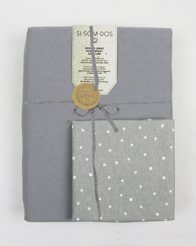 Grey funda nórdica + cojín Dots de regalo