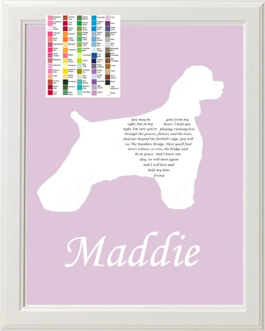 Personalized Cocker Spaniel Pet Memorial Poem Memorial Gift 8 X 10 Print