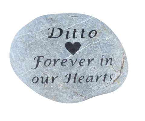Cat Memorial Stone, Pet Grave Marker 7-8 Inch Headstone - Mainline Designs