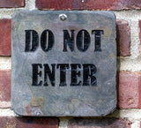 Do Not Enter Sign Marker Engraved Slate 6 x 6 Inch Do Not Enter Sign Address Plaque