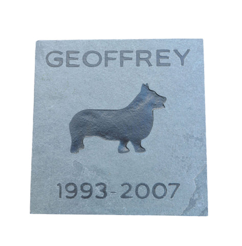 Corgi Memorial Stone, Pet Grave Marker, Headstone 6 x 6 Inch Any Dog Breed Available