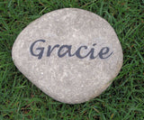 Pet Memorial Stone Grave Marker Headstone for Dog, Cat or any Pet 8-9 Inches Memorial Burial Gravestone Marker