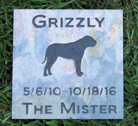 Mastiff Pet Memorial Stone, Pet Stone, Grave Marker, Dog Headstone 6 x 6 Inch